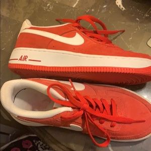 nike air Shoes - Nike Air 6Y red and white sneakers